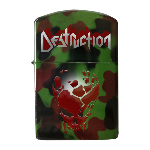 "Gasoline Lighter ""Red Skull"" [camo]"