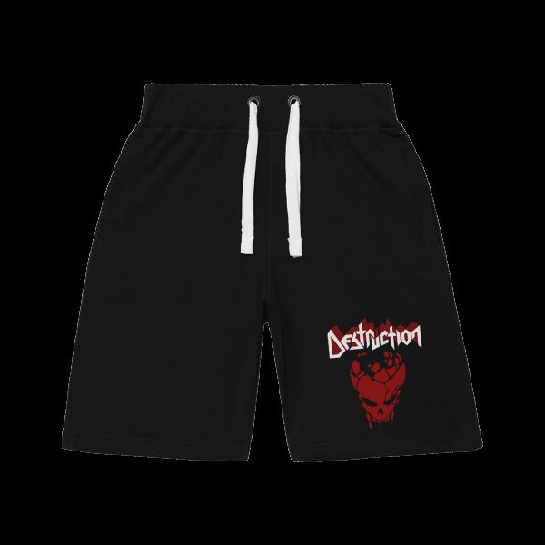 Pantalones cortos Destruction Logo & Skull [negro]